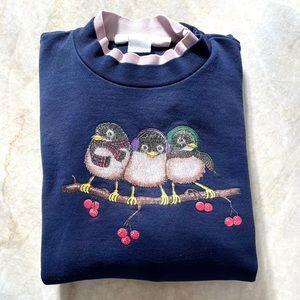 Vintage 90s Mary Engelbreit Bird Sweatshirt L